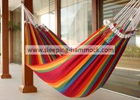 China Balcony Backyard Rainbow Brazilian Hammock Bed 260 X 190 Cm Fade Resistant factory