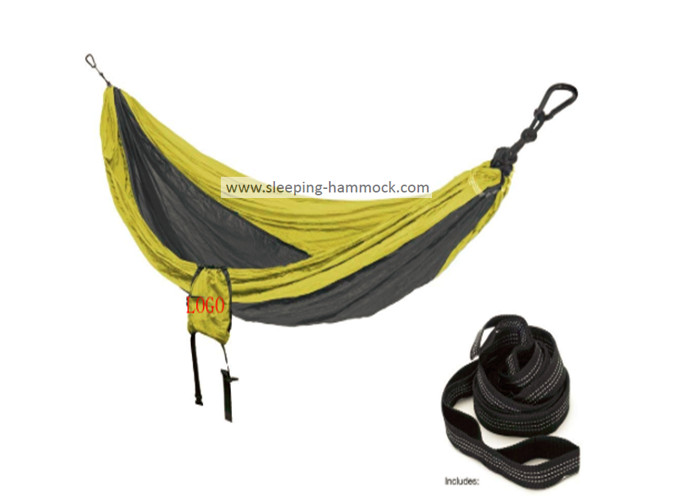 Small Portable Single Person Parachute Nylon Hammock With Carabiners Outdoor Backng