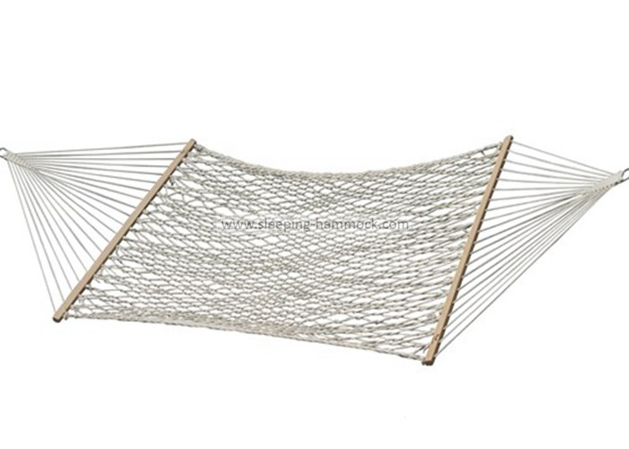 Double Size Two Person Oversized Cotton Rope Hammock And Stand Spreader Bar 55
