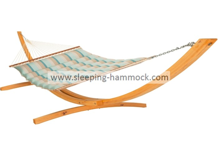 13ft Seaside Pillow Top Hammocks , Soft Polyester Durable Mist Wave Stand Alone Hammock