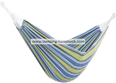 Indoor Brazilian Sleeping Hammock With Stand , Tree To Tree Soft Recycled Cotton Fabric Hammock