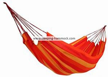 Luxury Family Size Comfortable Brazilian Sleeping Hammock Soft Fabric Cotton Orange Yellow Stripe
