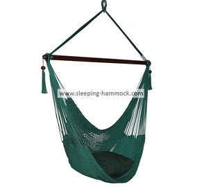 Large Porch Garden Hanging Hammock Chair With Footrest Stand Outdoor Forest Green