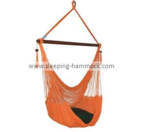 Comfortable Outdoor Large Caribbean Hammock Chair With Stand  Fade Resistant Orange