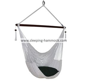 Weather Resistant Personal White Hammock Swing Chair Outdoor 47 Inches Wide