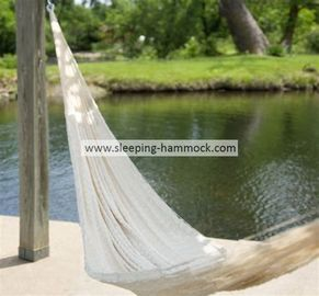 Soft  White Outdoor Double Person Handmade Mayan Hammocks Fade Resistant Comfortable