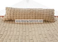 Weather Resistant Beige Oversized Olefin Hammock With Spreader Bar And Stand  For Two People