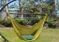 2 Person Hanging Caribbean Rope Chair 47 Inches Wide Olive Soft Spun Polyester