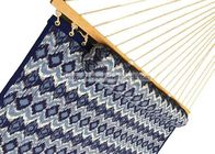 blue printed double size polyester quilted sleeping hammock super comfort