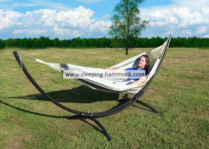 Kingsize Luxury Stainless Steel Arc Hammock Stand Outdoor With J Hook Pre-Assembled