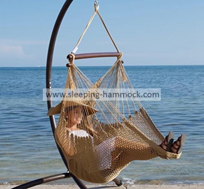 All Weather Versatile Grand Caribbean Lounge Hammock Chair Swing Soft Spun Polyester Rope